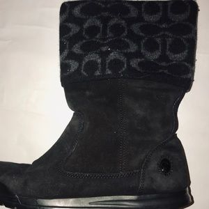 Coach Shoes - Coach Black suede with will logo trim Used 2 times